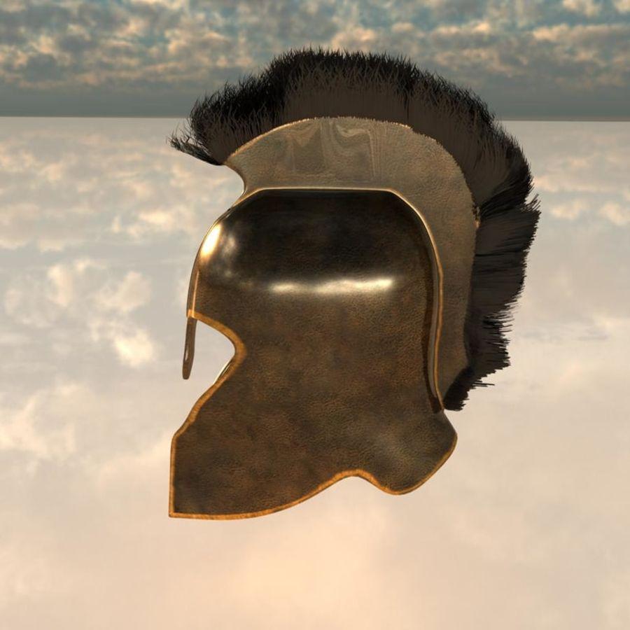 Trojan Helmet royalty-free 3d model - Preview no. 2