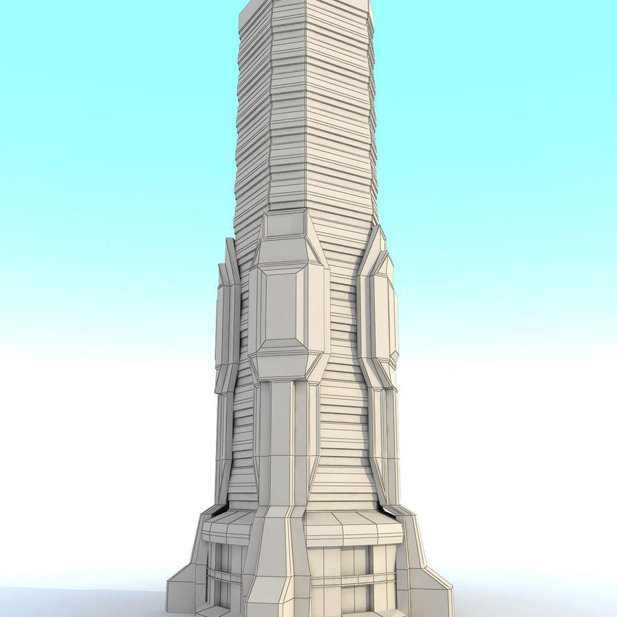 Sci Fi Building M Tower Modern 3D Model $20