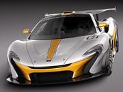 McLaren P1 GTR concept 2014 3d model