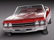 Chevrolet Chevelle SS convertible 1969 3d model
