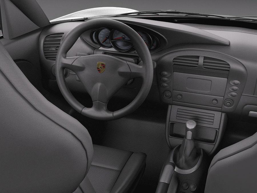 Porsche 911 996 Carrera 2003 royalty-free 3d model - Preview no. 10