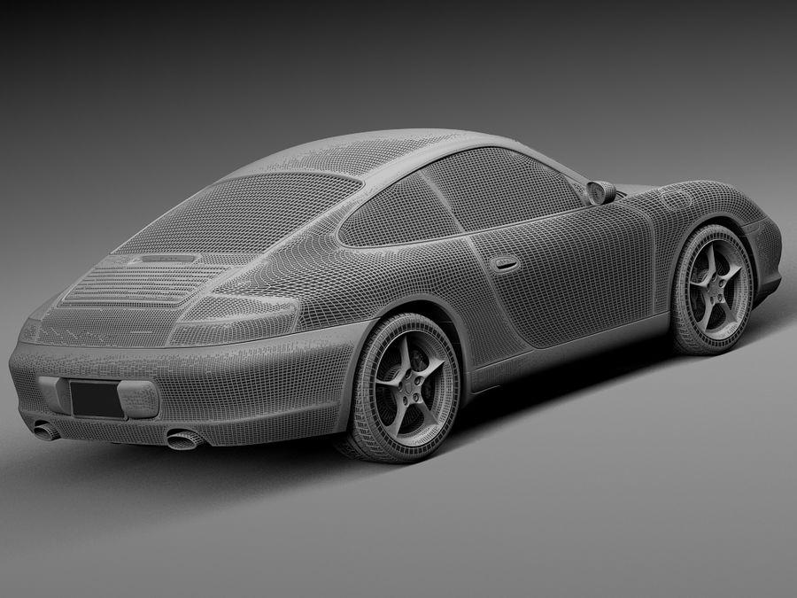 Porsche 911 996 Carrera 2003 royalty-free 3d model - Preview no. 16
