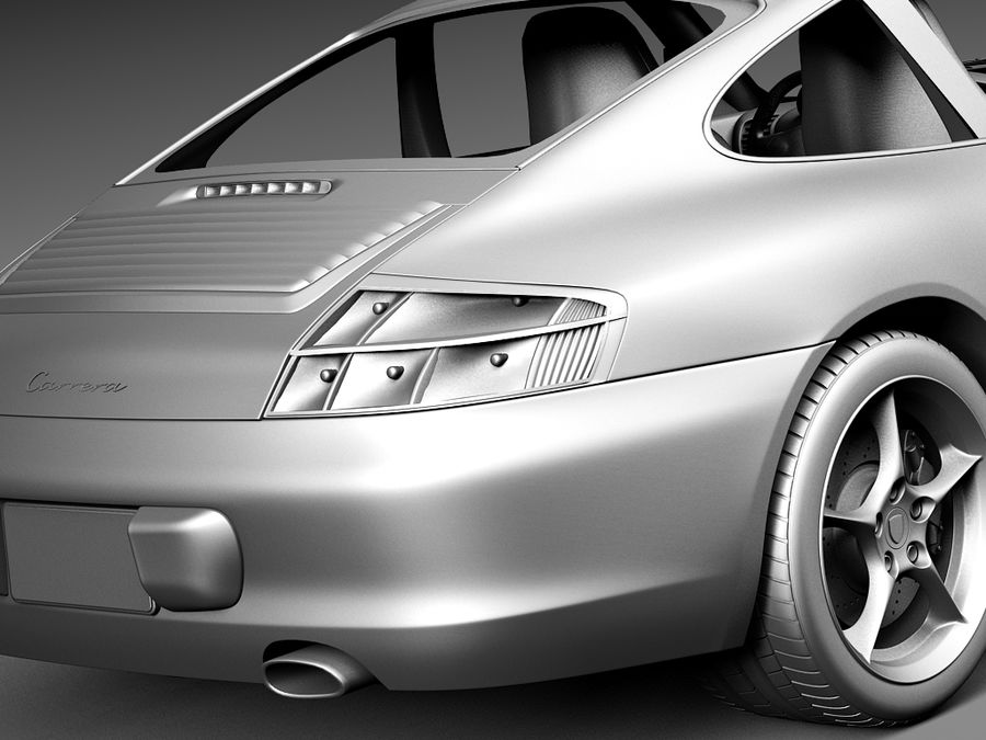 Porsche 911 996 Carrera 2003 royalty-free 3d model - Preview no. 13