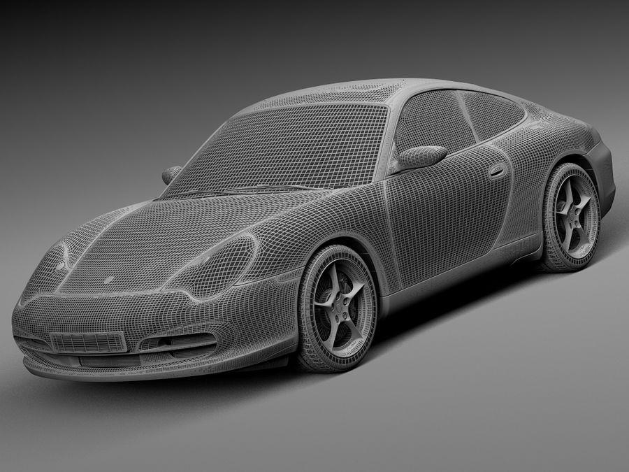 Porsche 911 996 Carrera 2003 royalty-free 3d model - Preview no. 15