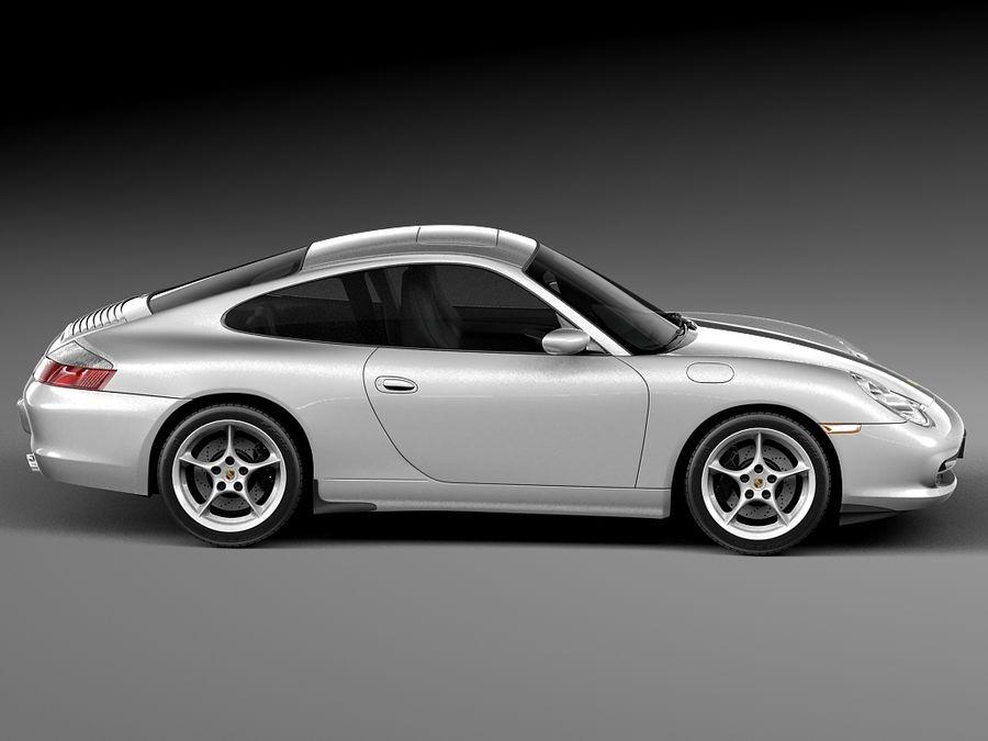 Porsche 911 996 Carrera 2003 royalty-free 3d model - Preview no. 7