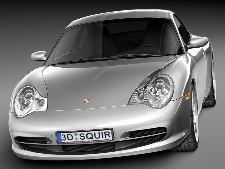 Porsche 911 996 Carrera 2003 royalty-free 3d model - Preview no. 2