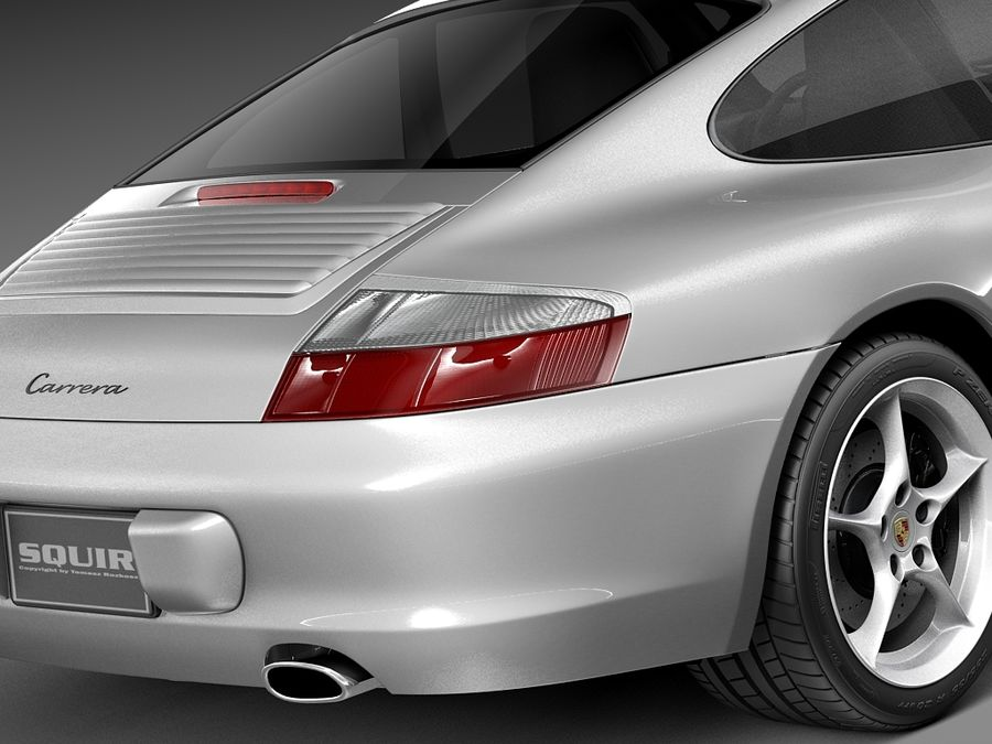 Porsche 911 996 Carrera 2003 royalty-free 3d model - Preview no. 4