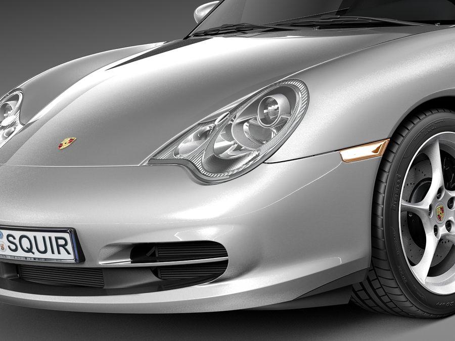 Porsche 911 996 Carrera 2003 royalty-free 3d model - Preview no. 3