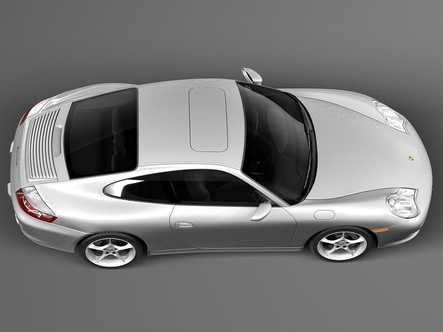 Porsche 911 996 Carrera 2003 royalty-free 3d model - Preview no. 8