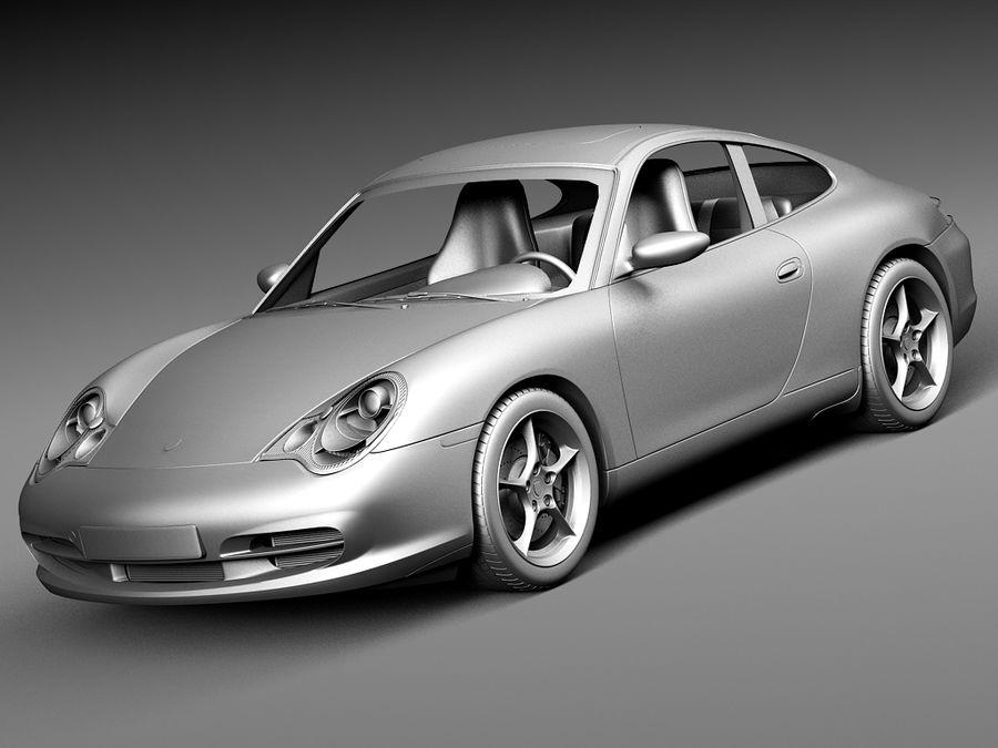 Porsche 911 996 Carrera 2003 royalty-free 3d model - Preview no. 11
