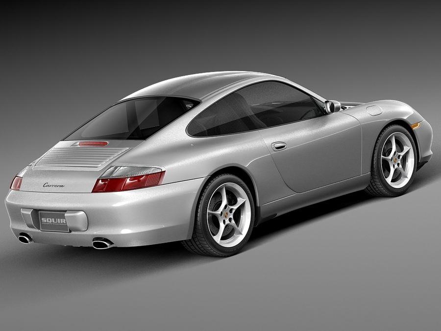Porsche 911 996 Carrera 2003 royalty-free 3d model - Preview no. 5