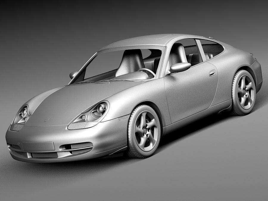Porsche 911 996 Carrera 1997-2001 royalty-free 3d model - Preview no. 11