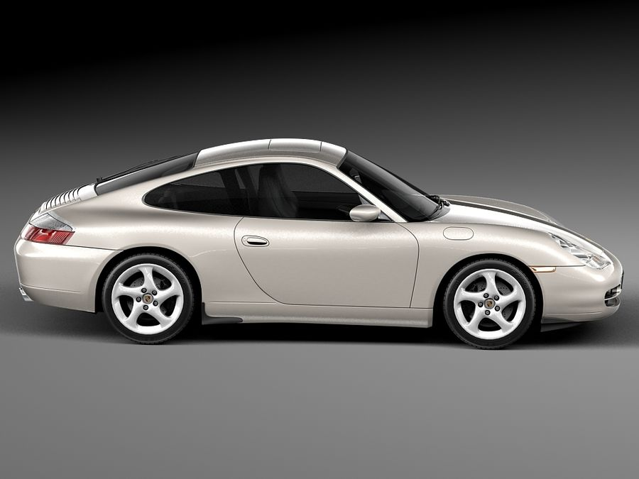 Porsche 911 996 Carrera 1997-2001 royalty-free 3d model - Preview no. 7