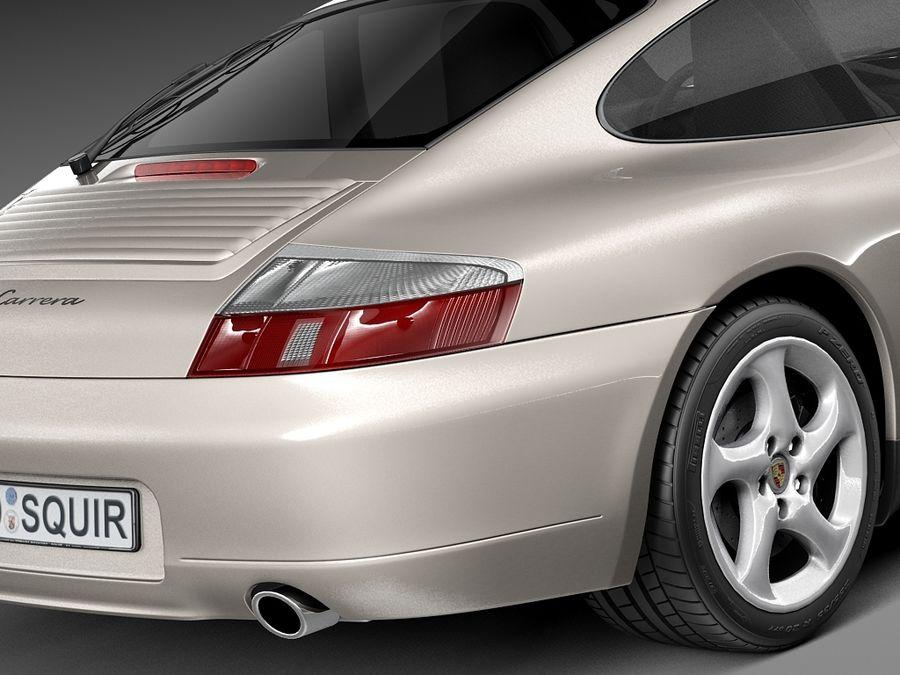 Porsche 911 996 Carrera 1997-2001 royalty-free 3d model - Preview no. 4