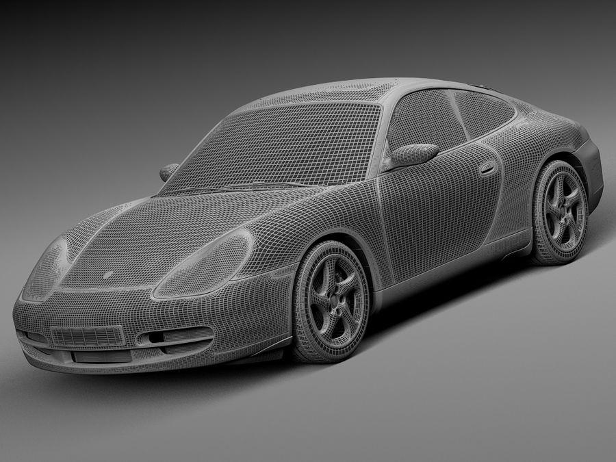 Porsche 911 996 Carrera 1997-2001 royalty-free 3d model - Preview no. 15