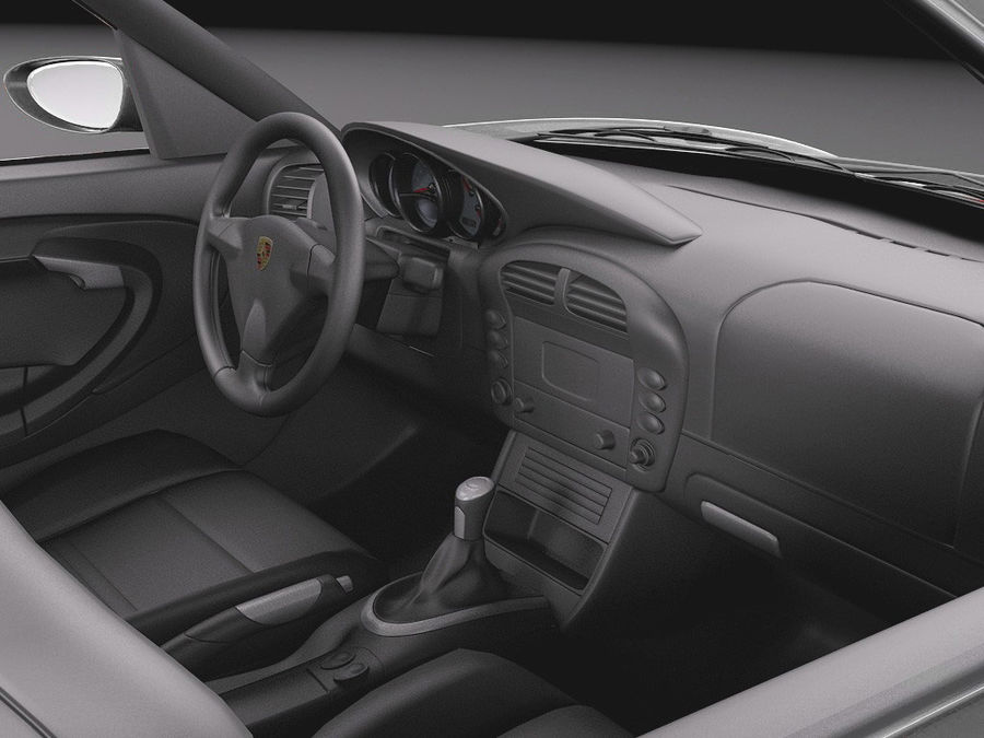 Porsche 911 996 Carrera 1997-2001 royalty-free 3d model - Preview no. 9