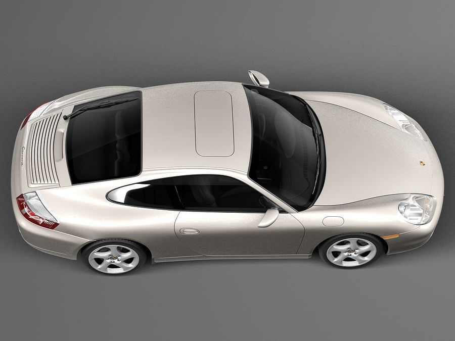 Porsche 911 996 Carrera 1997-2001 royalty-free 3d model - Preview no. 8