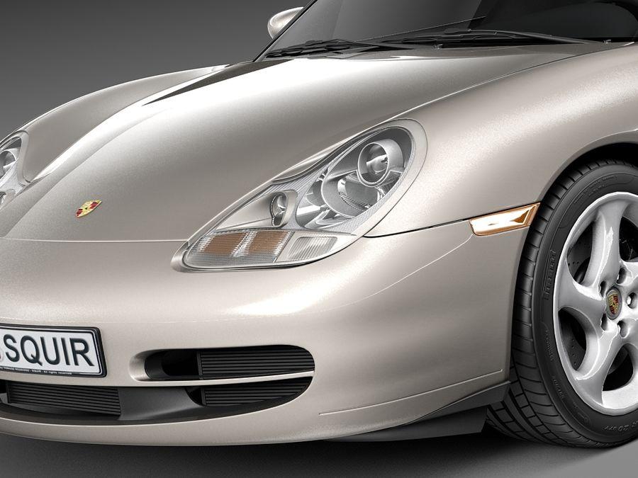 Porsche 911 996 Carrera 1997-2001 royalty-free 3d model - Preview no. 3