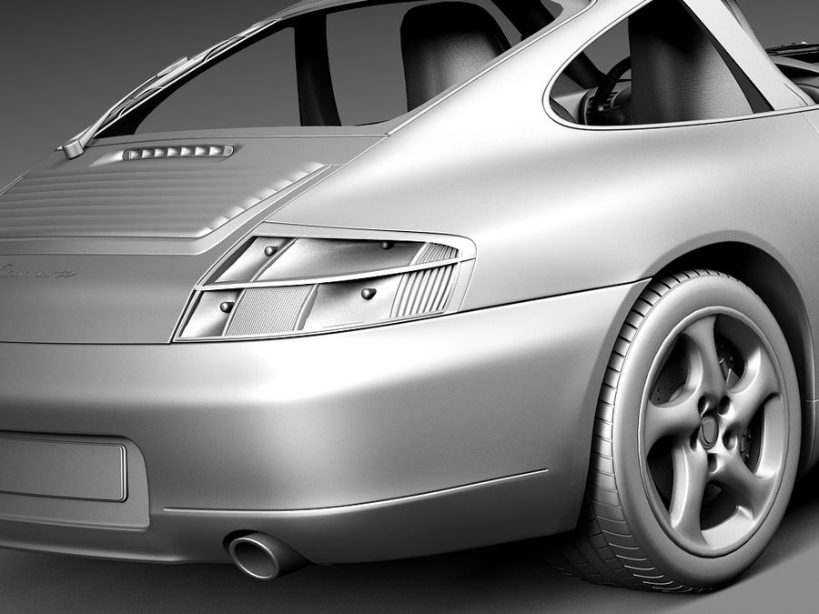 Porsche 911 996 Carrera 1997-2001 royalty-free 3d model - Preview no. 13