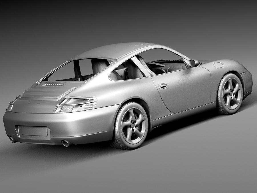 Porsche 911 996 Carrera 1997-2001 royalty-free 3d model - Preview no. 14