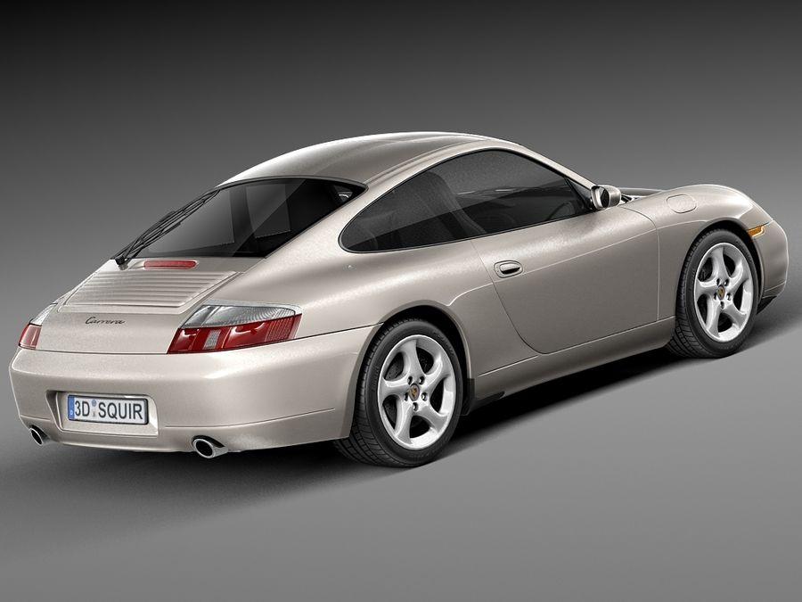 Porsche 911 996 Carrera 1997-2001 royalty-free 3d model - Preview no. 5