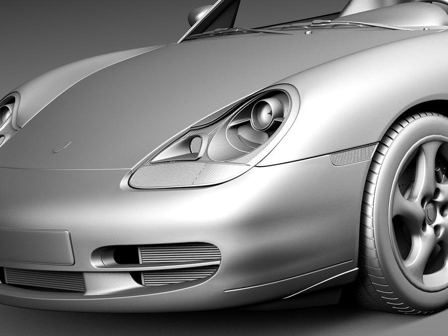 Porsche 911 996 Carrera 1997-2001 royalty-free 3d model - Preview no. 12