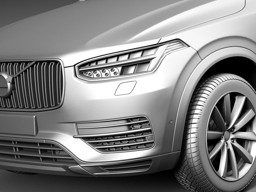Volvo XC90 2015 royalty-free 3d model - Preview no. 10