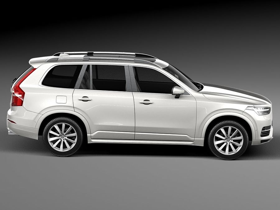 Volvo XC90 2015 royalty-free 3d model - Preview no. 7