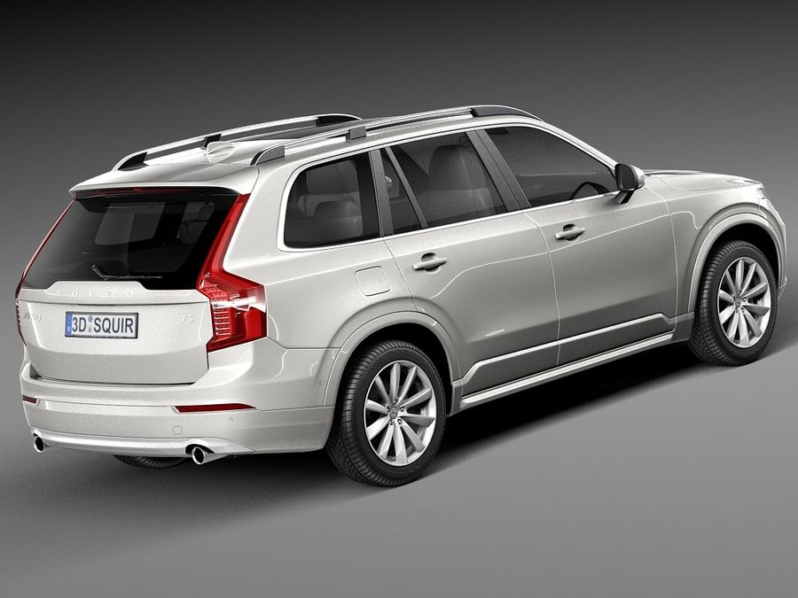 Volvo XC90 2015 royalty-free 3d model - Preview no. 5
