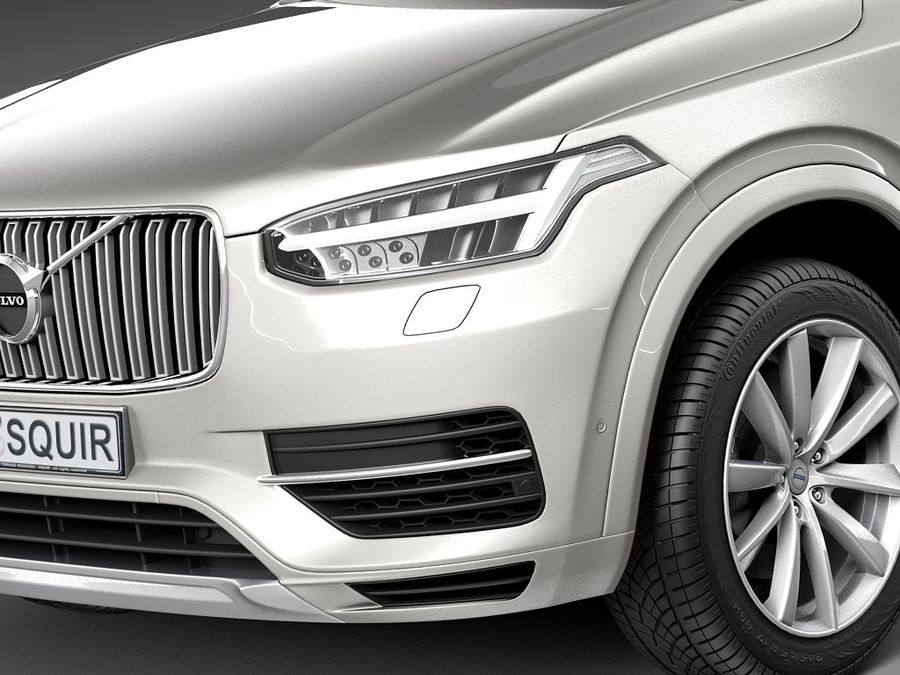 Volvo XC90 2015 royalty-free 3d model - Preview no. 3