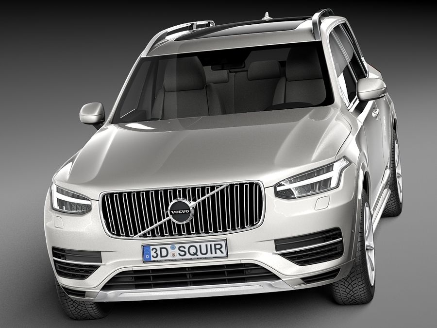 Volvo XC90 2015 royalty-free 3d model - Preview no. 2