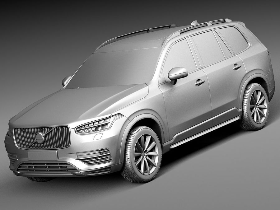 Volvo XC90 2015 royalty-free 3d model - Preview no. 9