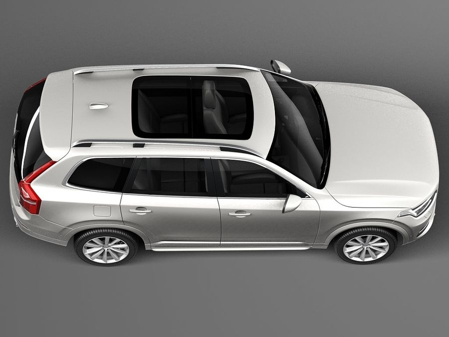 Volvo XC90 2015 royalty-free 3d model - Preview no. 8