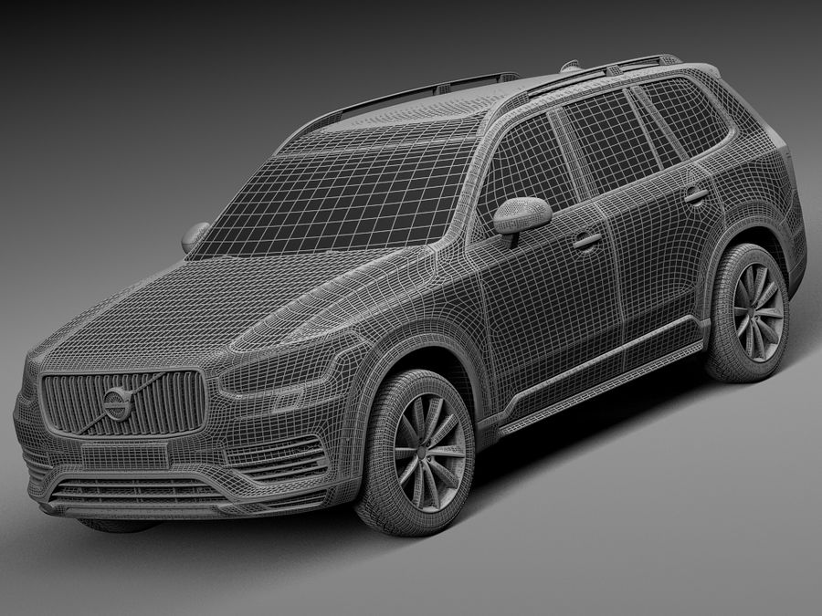 Volvo XC90 2015 royalty-free 3d model - Preview no. 13