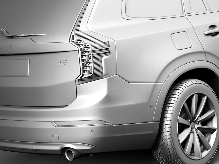 Volvo XC90 2015 royalty-free 3d model - Preview no. 11