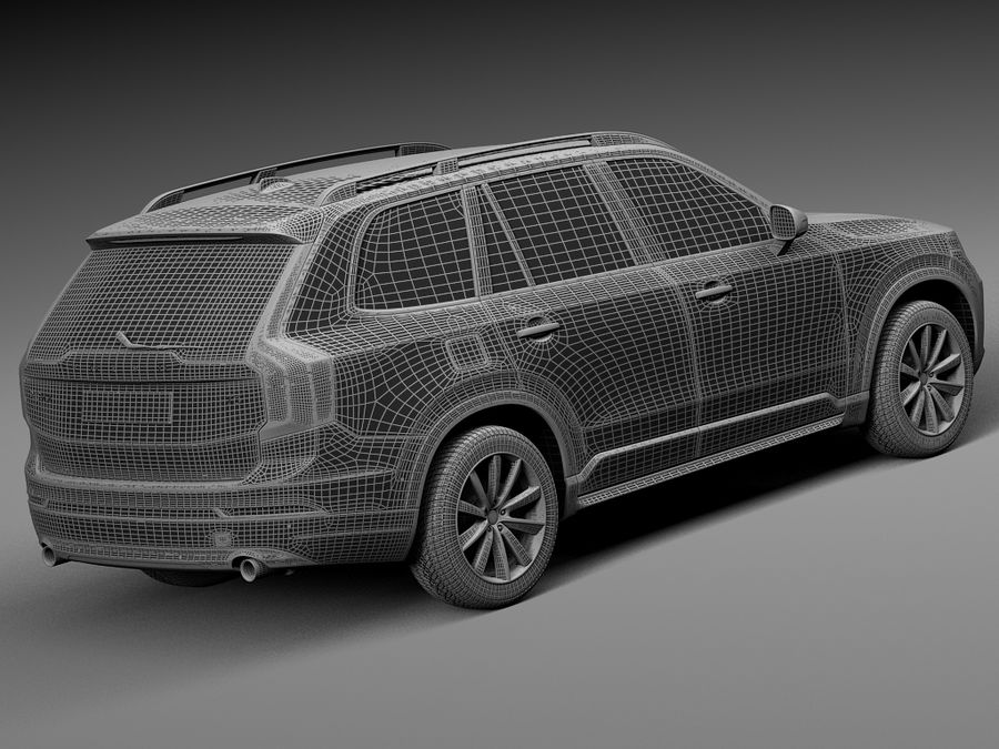 Volvo XC90 2015 royalty-free 3d model - Preview no. 14