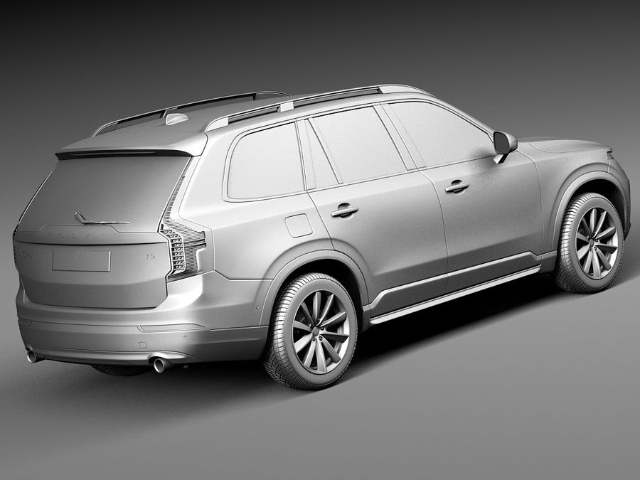 Volvo XC90 2015 royalty-free 3d model - Preview no. 12