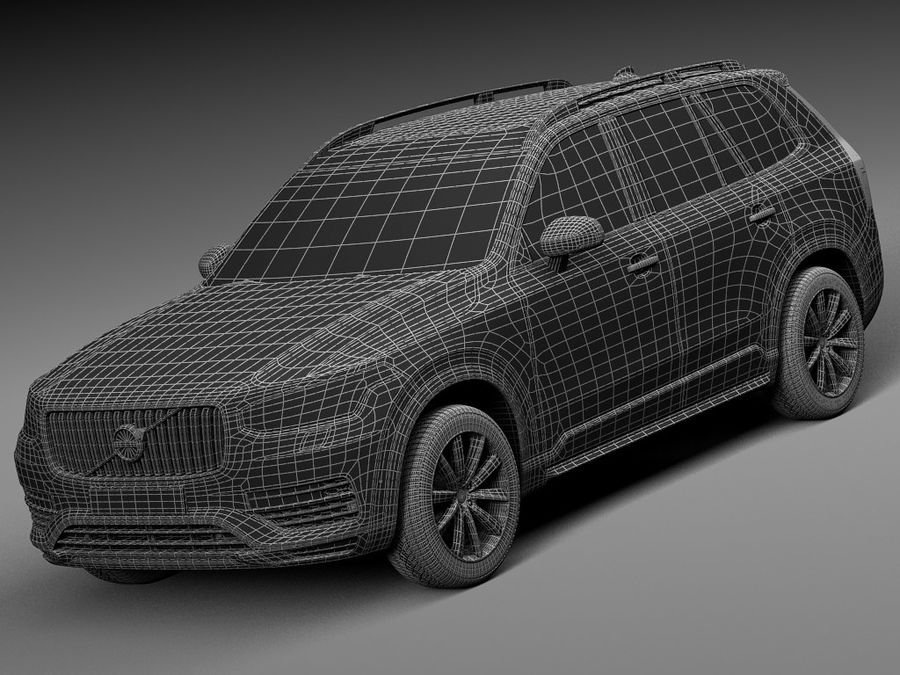 Volvo XC90 2015 royalty-free 3d model - Preview no. 15
