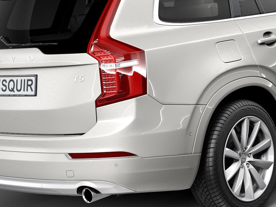 Volvo XC90 2015 royalty-free 3d model - Preview no. 4