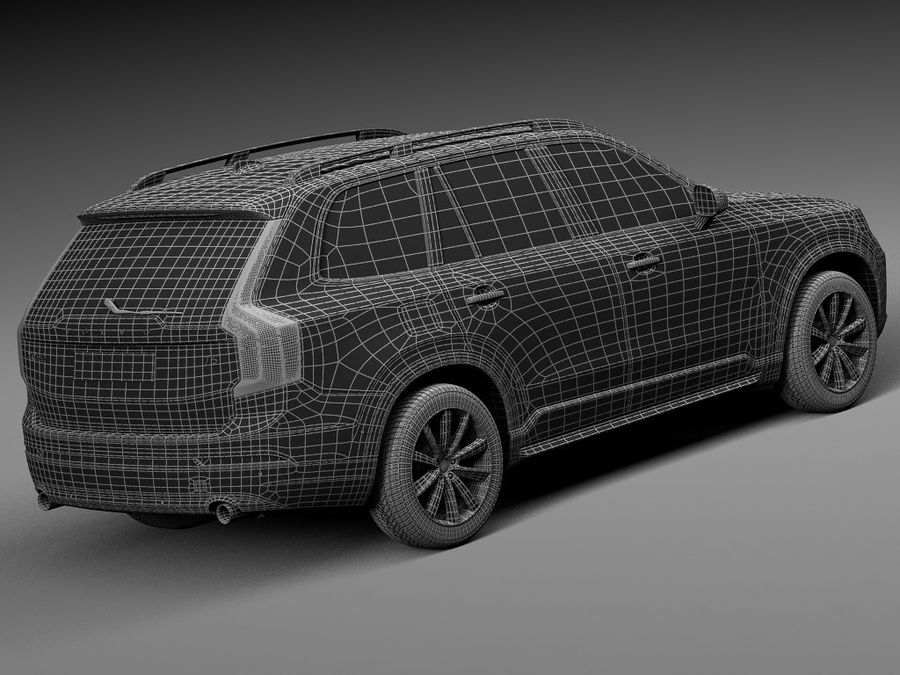 Volvo XC90 2015 royalty-free 3d model - Preview no. 16