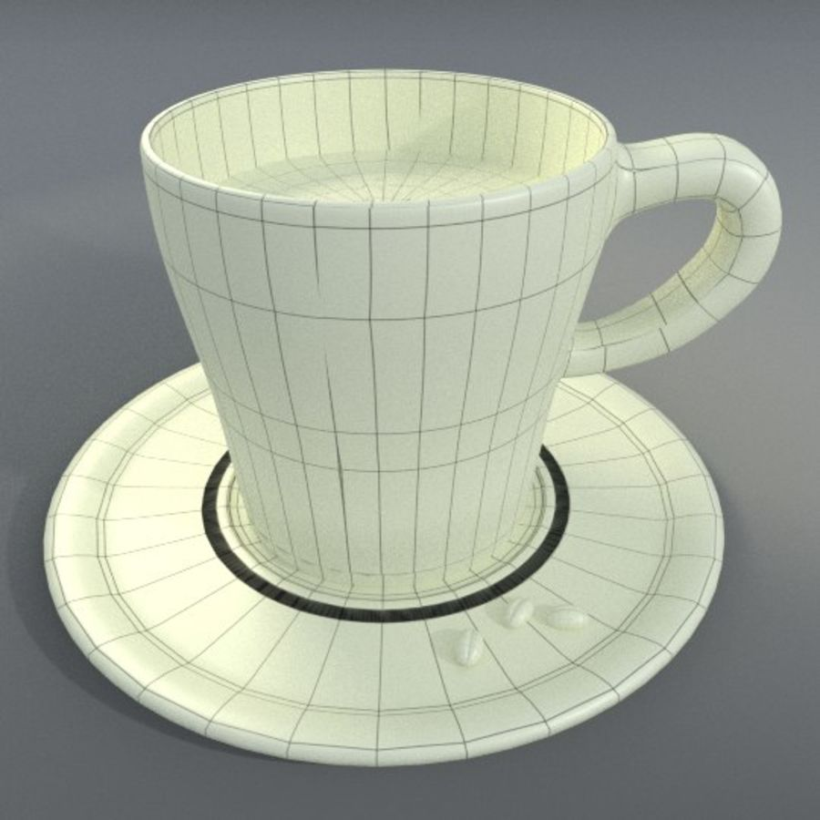 Taza de espresso royalty-free modelo 3d - Preview no. 4