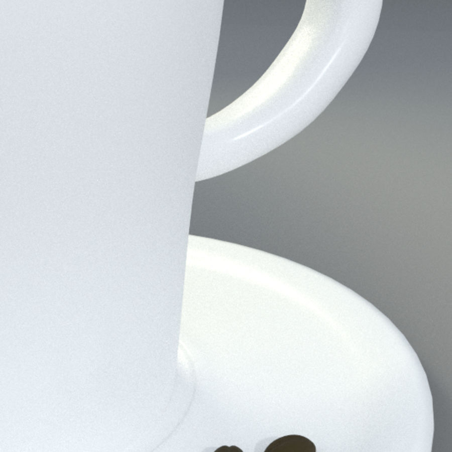Taza de espresso royalty-free modelo 3d - Preview no. 3
