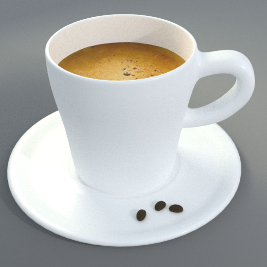 Taza de espresso royalty-free modelo 3d - Preview no. 1