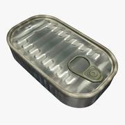 沙丁鱼罐头 3d model