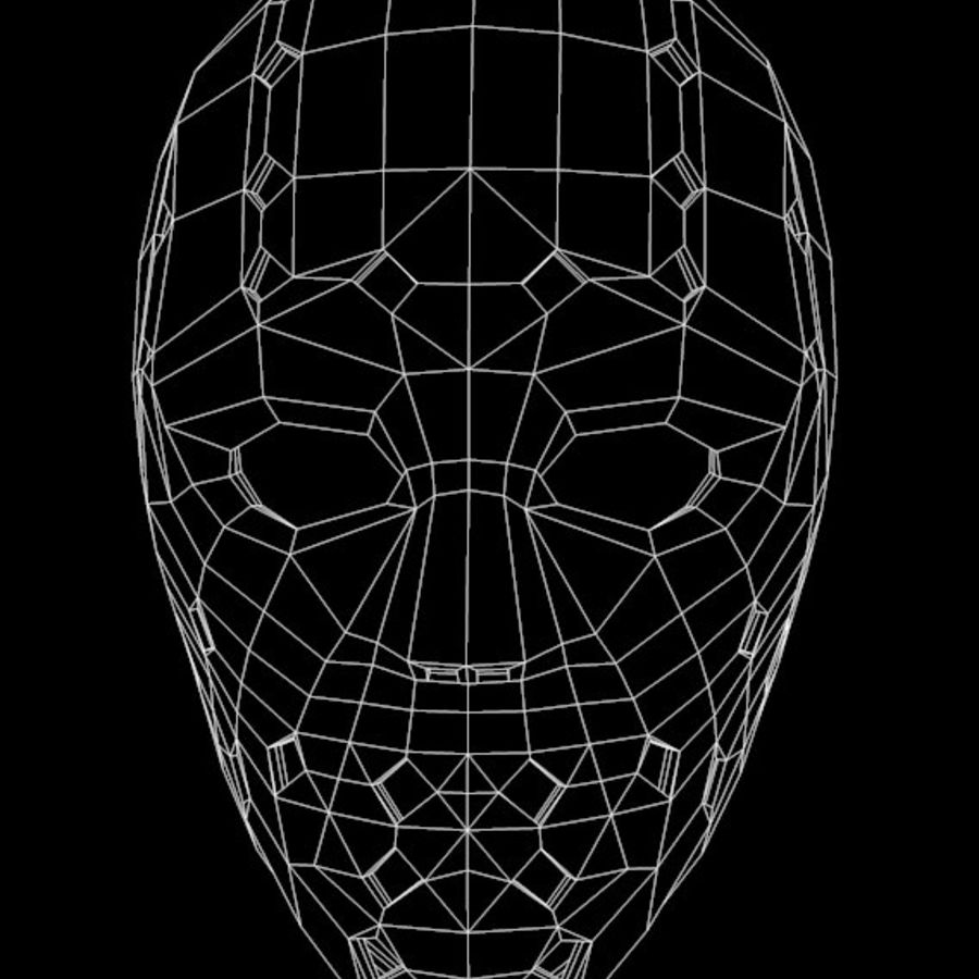Masque 3 royalty-free 3d model - Preview no. 6