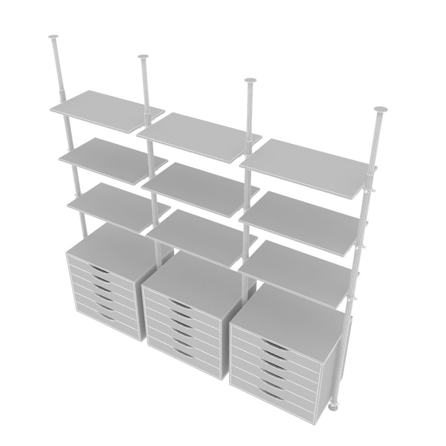 meble IKEA royalty-free 3d model - Preview no. 5
