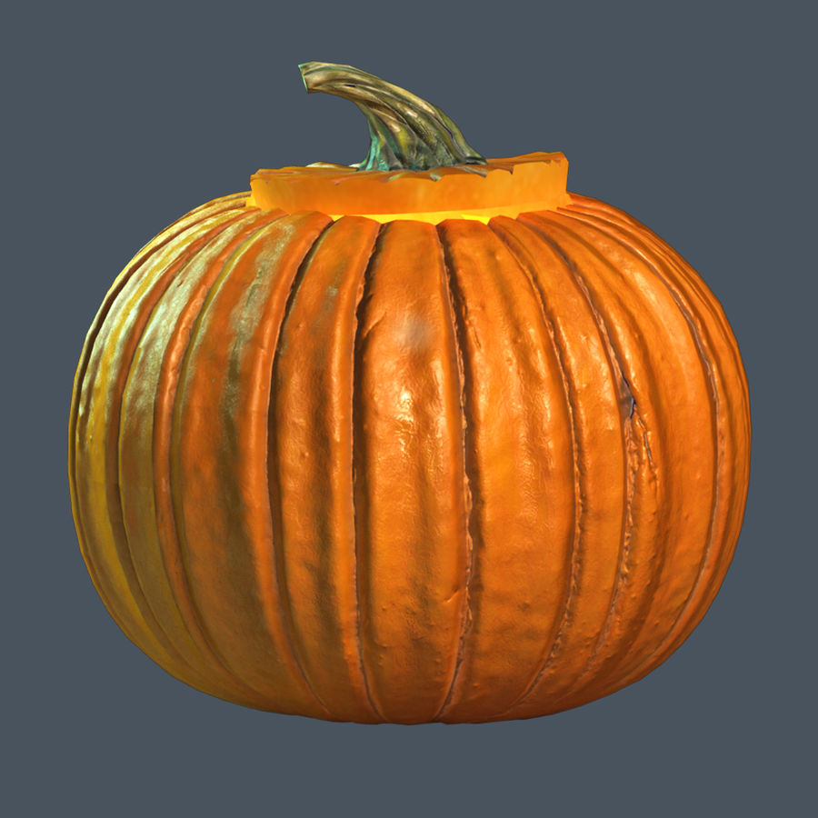 Zucca di Halloween royalty-free 3d model - Preview no. 3
