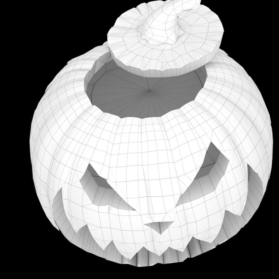 Zucca di Halloween royalty-free 3d model - Preview no. 6