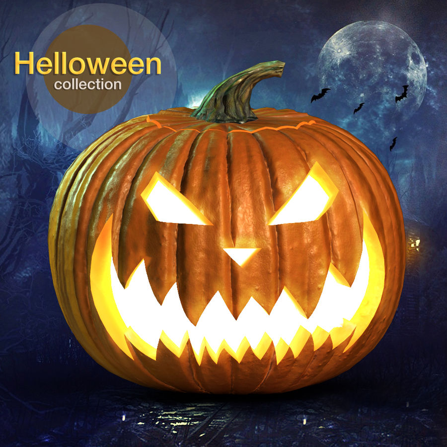 Zucca di Halloween royalty-free 3d model - Preview no. 1