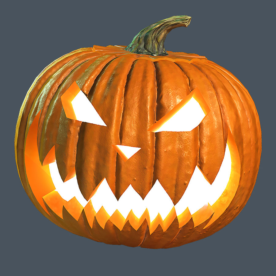 Zucca di Halloween royalty-free 3d model - Preview no. 2